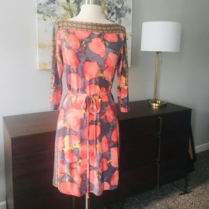 Ali Ro 3/4 Sleeve Floral Dress